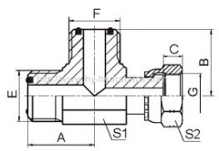 ORFS male/ ORFS femal run hydraulic fittings