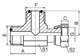 ORFS male/ ORFS femal run hydraulic fittings