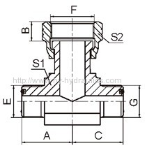 ORFS male/ ORFS female/ ORFS male hydraulic fittings