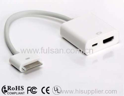 For iPad dock connector to HDMI adapter