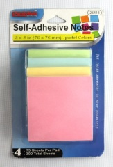 4 colors business self-adhesive notes