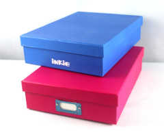 colored paper file box