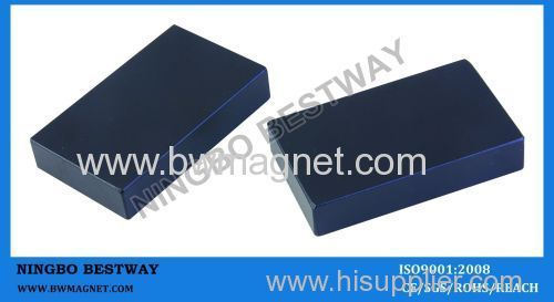 N35 2''x1''x 0.5'' Block NdFeB Magnet with Epoxy Plated