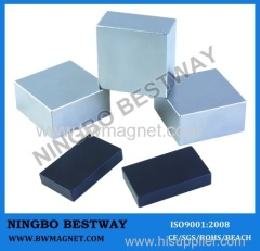 N35 L50*50*25mm Neodymium Block Magnets Ni coating