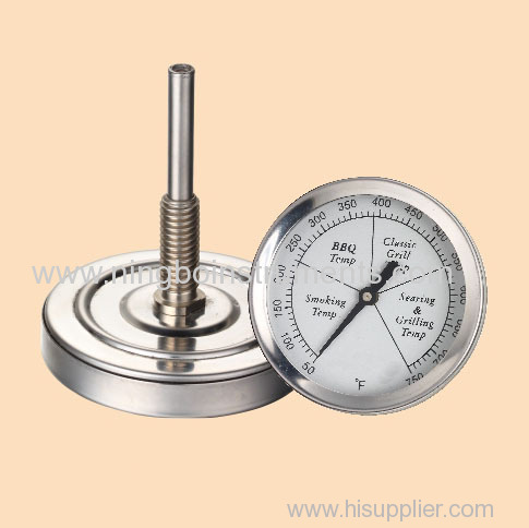 Grill thermometers; gridiron thermometers