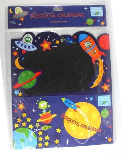 rockets kids calendar with stickers