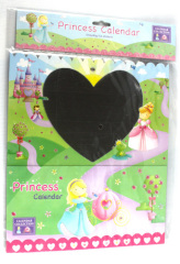 princess kids calendar with sticker
