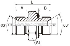 1BM-WD BSP male/ matric male captive seal Hydraulic fittings