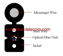 FTTH Drop Kabel 6cores Fig.8 met 0.4mm Steel Wire Strength member