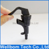 Black beer tap inlet 9.5mm outlet 4.5mm Plastic Dispensing Faucet