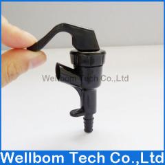 Black beer tap inlet 9.5mm outlet 4.5mm Plastic Dispensing Faucet