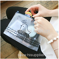 Zipper transparent plastic bag