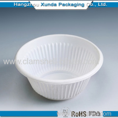 Disposable plastic food bowl