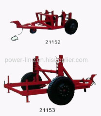 Cable transporter reel transportation vehicle