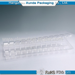 Plastic clear macarons clamshell packaging