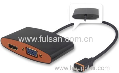 Slimport adapter cable with power supply