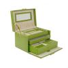 chinese antique wood fashion large velvet jewelry box