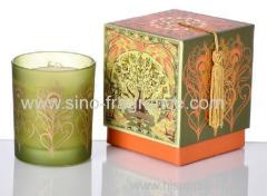 luxury scented soy cande in glass jar