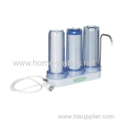 Triple simple home water filter purifiers