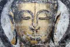 handmade buddha oil painting
