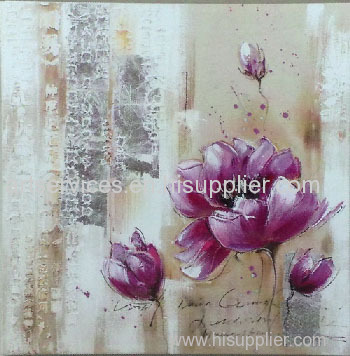 flower oil painting size 60x60cm