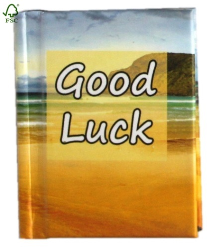 UV coating good luck hardcover notebook