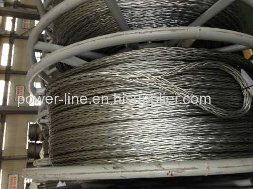 Anti-twisting braided steel rope