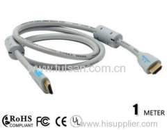 High quality 1080p hdmi cable two ferrites for sale