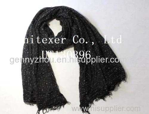 100% viscose scarf viscose flocking scarf scarf