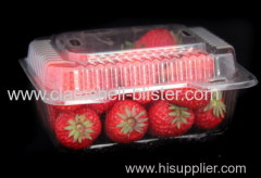 Disposable plastic cherry box