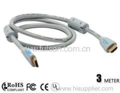 3m HDMI Cable Hi-Speed Full HD 1080p with Ferrite