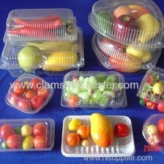 Clear plastic fruits packaging container