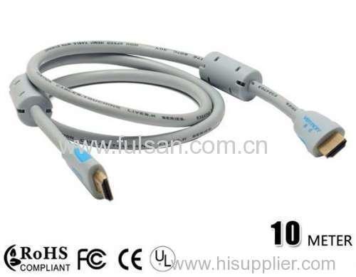 High Quality HDMI Cable with Ferrite 19M/M 1080P 10m