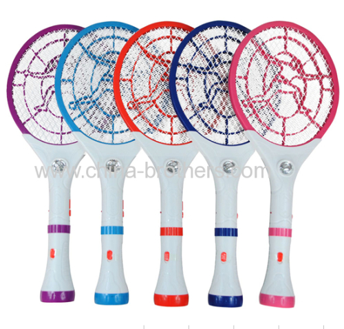 Plastic Rechargeable Mosquito Killer Racket with LED Torch