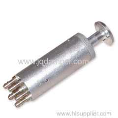 five way brass gas valve with manual button
