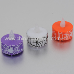 LED candle tea light with printing