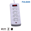 2-6 Ports Extension Socket Electrical Power Strip with LED indicator