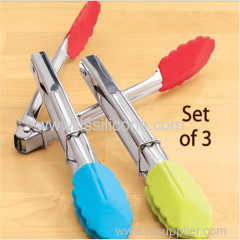 colorful kitchen silicone tongs