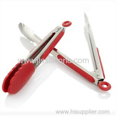 Silicone Stainless Steel Tongs