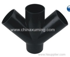 HDPE Injection Siphon Slanting Four Ways Fitting