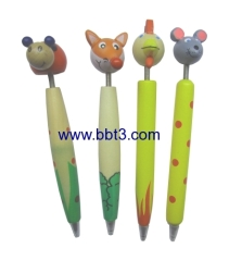 Top-Selling promotional cartoon shape wooden ballpoint pen