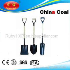 D type plastic grip wood handle shovel