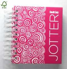 pink jotter|small Double Wires hardcover notebook