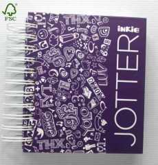purple jotter small Double Wires hardcover notebook