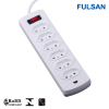 6 Way Universal Extension Power Strip with Switch