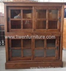 classical wooden cabinet sliding door