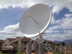 7.3 meter motorized satcom large satellite antenna