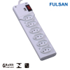 Inmetro Approved 6 Gangs Brazil Power Strip with USB Charger