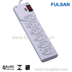 Multi-Functional Power Strip with switch and led indicator