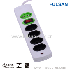 USB Socket/power strip with USB ports/USB power strip